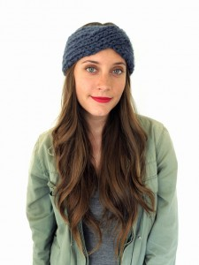 Chunky Soft Turban Headband Knitting Pattern Photos
