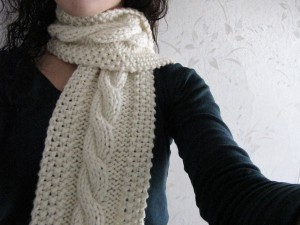Cozy Cable Knit Scarf Pattern Pictures