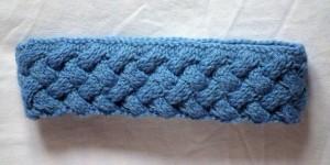 Criss-Cross Cable Knit Headband Pattern Tutorial Photo