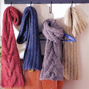 Images of Crystal Palace Cable Knit Scarf Pattern