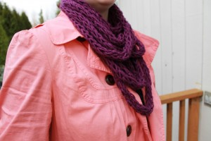 Images of DIY Finger Knitting Scarf Pattern