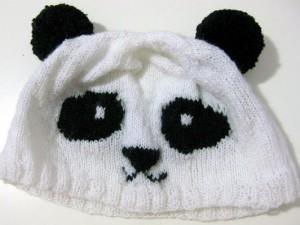 DIY Knitted Panda Hat Pattern Photos