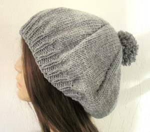 DIY Pompom Hat Knitting Pattern For Women Image