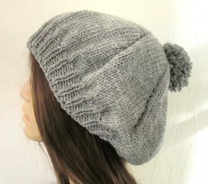 DIY Pompom Hat Knitting Pattern For Women Image