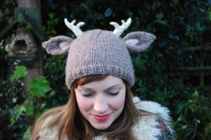 Deer Hat with Antlers Knitting Pattern Pictures