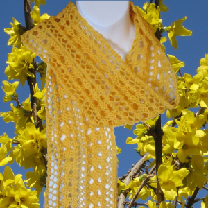 Images of Delicate Lace Scarf Easy Knitting Pattern