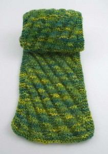 Diagonal Rib Scarf Knitting Pattern Pictures