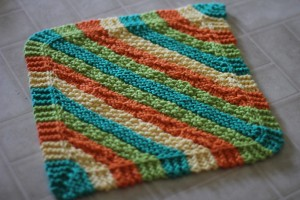 Diagonal Knit Dishcloth Pattern Images