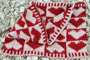 Double Knit Scarf Heart Pattern Photo
