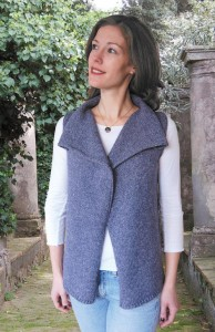 Pictures of Drape Front Vest to Knit Pattern
