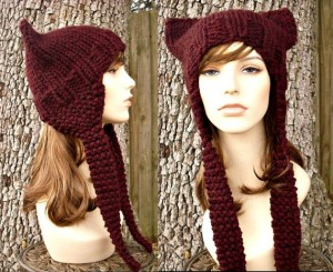 Ear Flap Cat Hat Knitting Pattern Pictures
