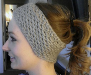 Ear Warmer Headband Knit Pattern Image