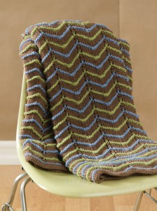 Photo of Earth Tone Knitted Afghan Pattern