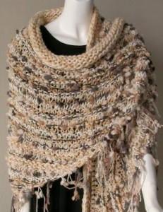 Easy Knit Shawl Pattern Photos