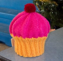 Easy Knitted Cupcake Hat Pattern Photos