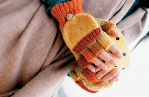 Picture of Easy Knitted Fingerless Gloves Pattern