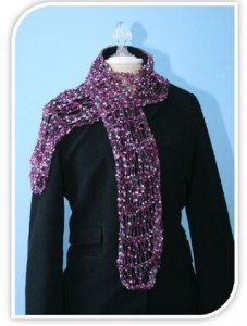 Images of Easy Loom Knitting Scarf Pattern