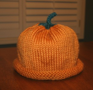 Easy Pumpkin Hat Knitting Pattern Pictures