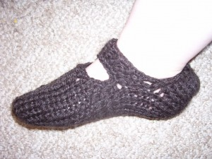 Easy Round Loom Knit Slipper Pattern Photos