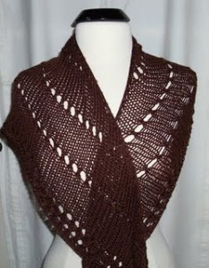 Picture of Easy Shawl Knitting Pattern