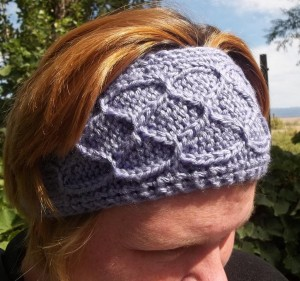 Easy Smocked Knit Ear Warmers Pattern Image