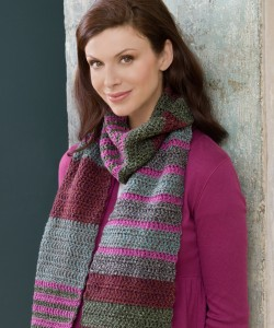 Easy Striped Scarf Knitting Pattern Image