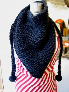 Easy Triangle Scarf Knitting Pattern Instruction Images