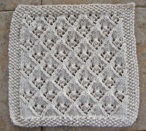 Elfin Lace Dishcloth Knitting Pattern Picture