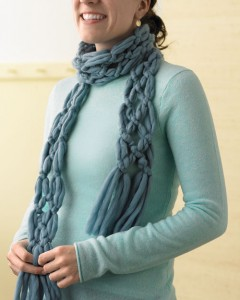 Finger Knitting Scarf Pattern Tutorial Pictures