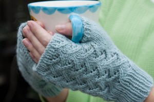 Image of Fingerless Gloves Knitted Pattern
