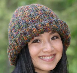 Free Cozy Ribbed Hat Loom Knitting Pattern Image