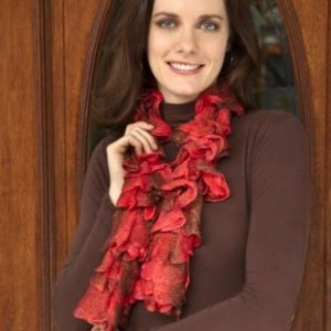 Free Flora Ruffle Knitting Scarf Pattern Picture