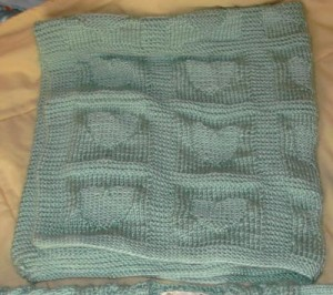 Free Heart Baby Blanket Knitting Pattern Pictures