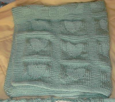 Heart Baby Blanket Knitting Pattern A Knitting Blog