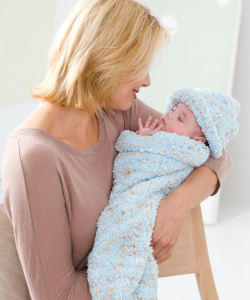 Free Knit Baby Cocoon and Cap Pattern Images