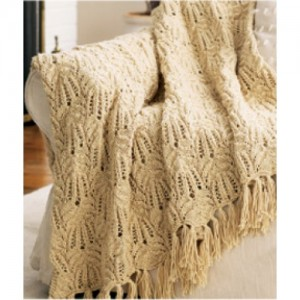 Picture of Free Lacy Afghan Knitting Pattern
