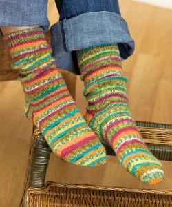 Free Self Striping Sock Knitting Pattern Images