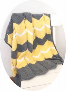 Free Striped Chevron Baby Blanket Knitting Pattern Images
