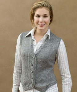 Free Sweater Vest Knitting Pattern Image
