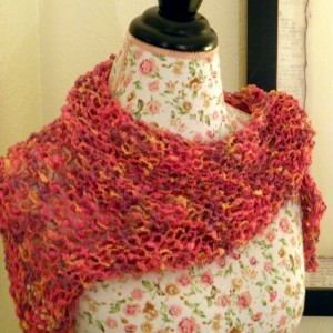 Free Triangle Scarf Knitting Pattern Tutorial Images