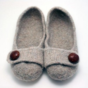 French Press Felted Slipper Pattern Picture