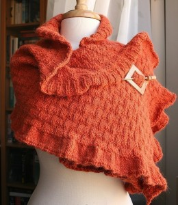 Images of Frilly Knitted Shawl Pattern