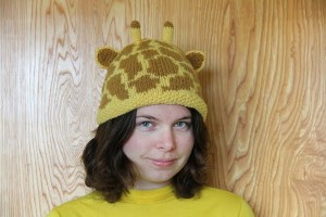 Giraffe Hat Knitting Pattern Design Images