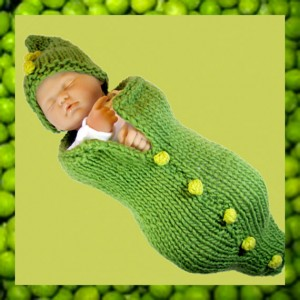 Images of Green Pea Pod Baby Cocoon Knitting Pattern