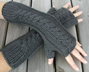 Hand and Arm Warmer Fingerless Gloves Knitting Pattern Pictures