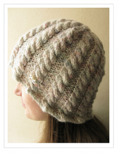 Handspun Star Hat Cable Knitting Pattern Picture