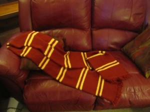 Harry Potter Gryffindor Scarf Knitting Pattern Pictures