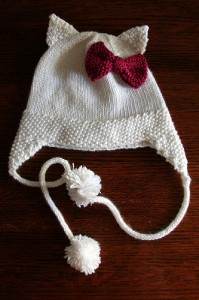 Hello Kitty Earflap Hat Knitting Pattern Pictures