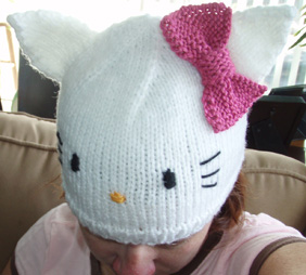 Hello Kitty Hat Knitting Pattern Images