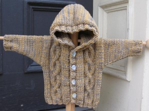 Photos of Hooded Cable Knit Sweater pattern
